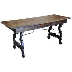 Italian 19th Century Walnut Desk