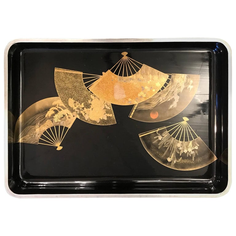 Large Japanese Lacquer Tray