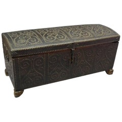 Spanish Colonial Leather Trunk