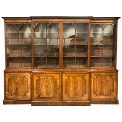 18th Century George I English Mahogany Breakfront Bookcase, circa 1740