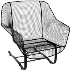 "Russell Woodard Black ""Sculptura"" Spring Lounge Chair, 1950s"