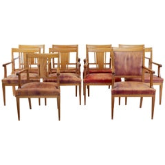Set of Ten 20th Century Danish Mahogany Armchairs