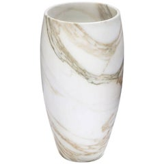 Forza Calacatta Marble Large Vase - In Stock