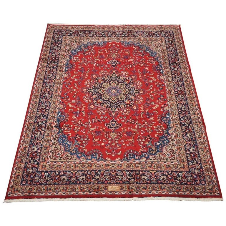 Signed Persian Tabriz Area Rug, Circa 1960 For Sale At 1stdibs