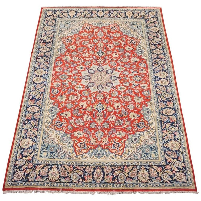 Fine Persian Isfahan Area Rug Circa 1940 For Sale At 1stdibs