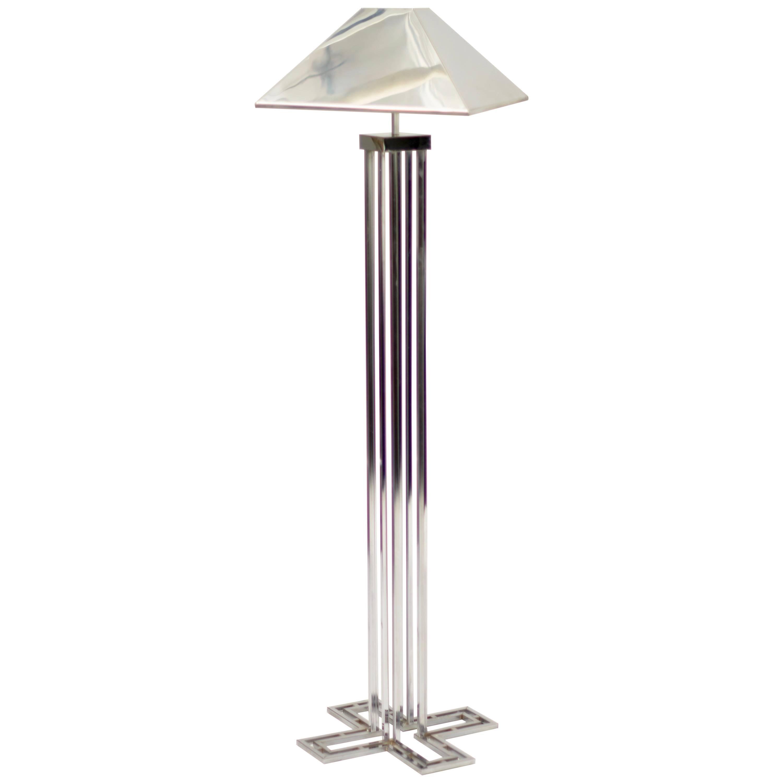 C. Jere Chrome Floor Lamp