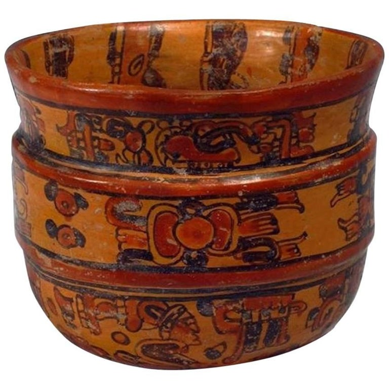Mayan Ulua Valley Banded Vessel, Ex-Andy Warhol For Sale
