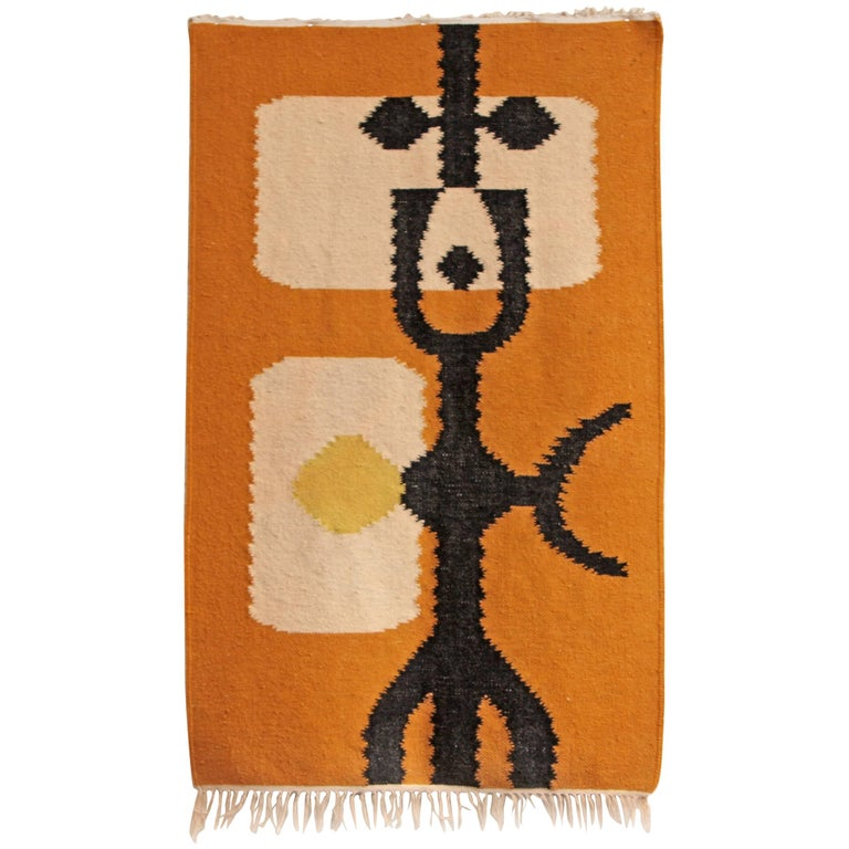 Midcentury Modernist Abstract Rug