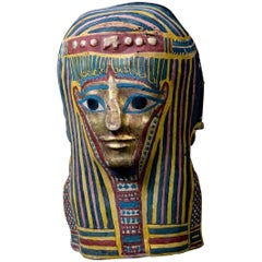 Original Ptolemaic Egyptian Cartonnage Mask