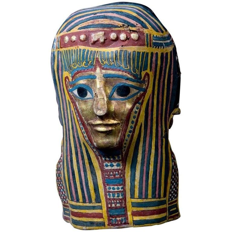 Original Ptolemaic Egyptian Cartonnage Mask