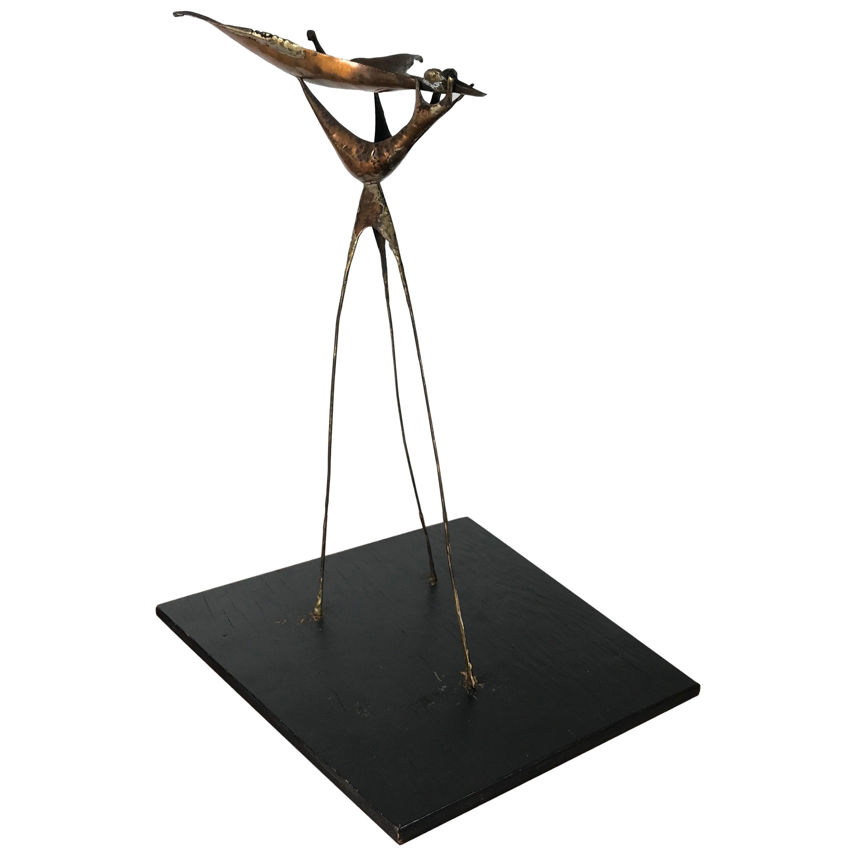 Unique Vintage Nude Form Plaster Sculpture or Table Base