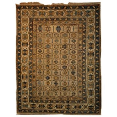 Handmade Antique Caucasian Shirvan Rug, 1890s
