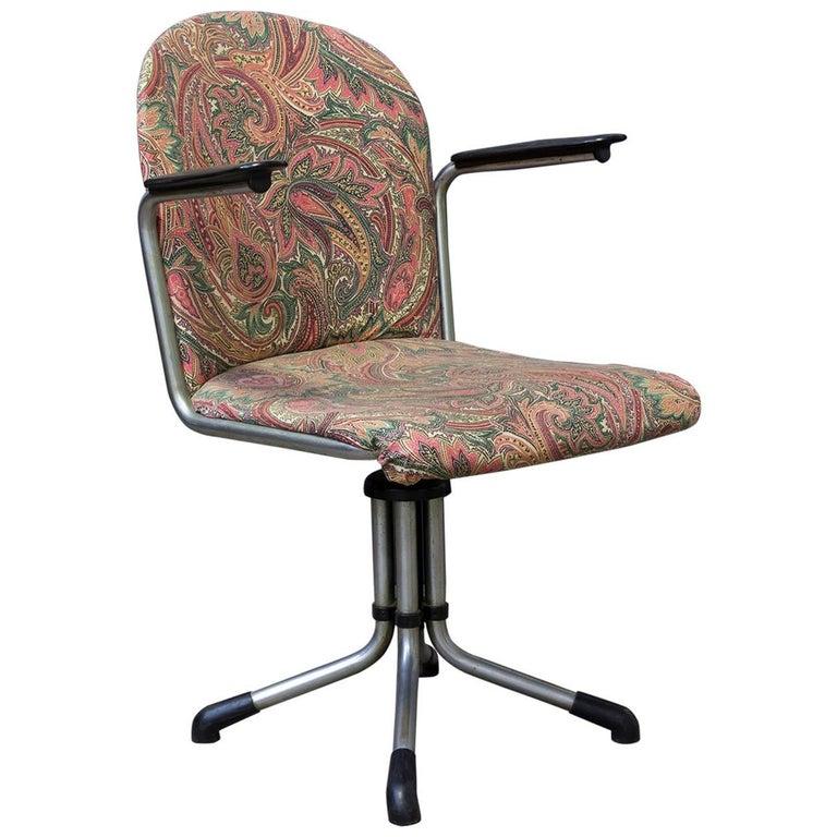 1935, W.H. Gispen by Gispen Culemborg, Office Chair 356, Bakelite Armrests