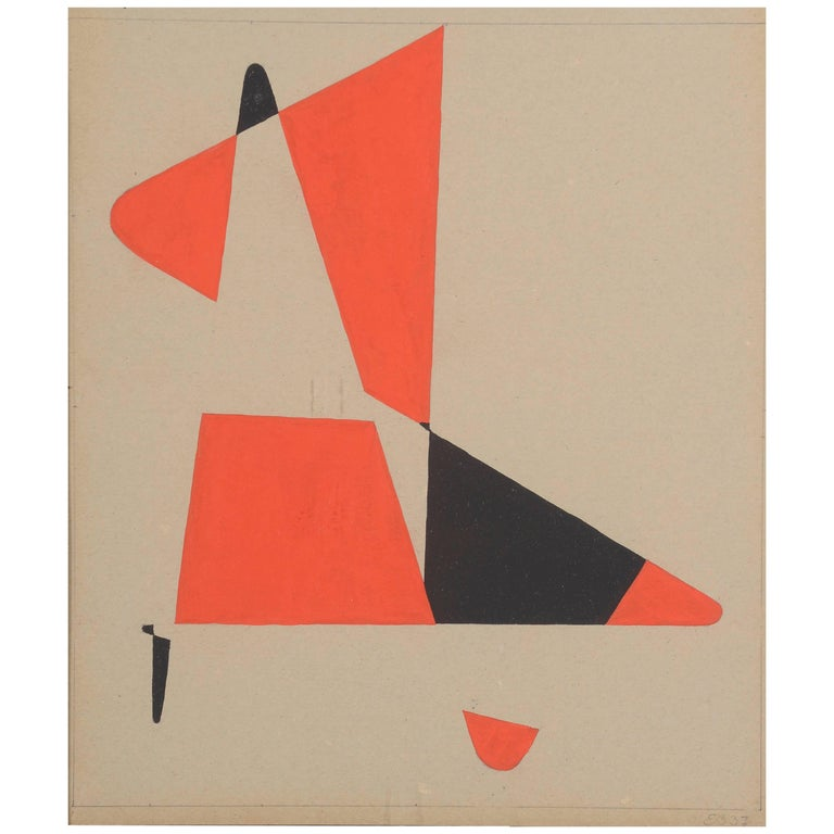 Untitled Gouache on Paper by Etienne Béothy, circa 1937