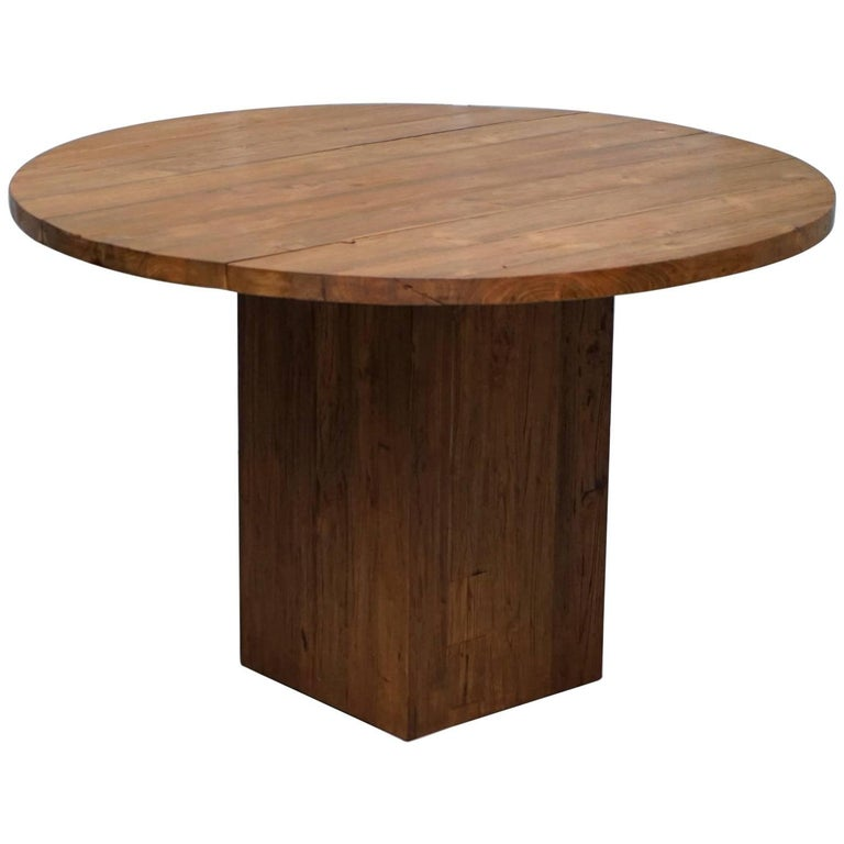 Raft Furniture Megan Reclaimed Solid Teak Round Four Person Dining Table