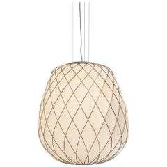 "Fontana Arte ""Pinecone"" Blown Glass Small Pendant Lamp Designed by Paola Navone"