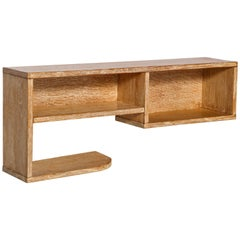 Modernist Royere Gouffe Cerused Oak Wall Shelf Deco, 1930s, France