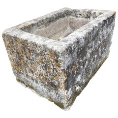 Large 18th Century French Hand-Carved Limestone Trough