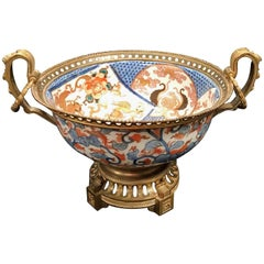 19th Century Japanese Imari Porcelain Bronze-Mounted Centrepiece