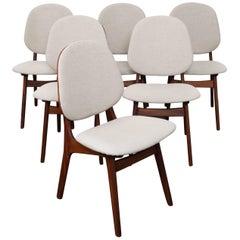 Set of Six Norwegian Teak Dining Chairs by Arne Hovmand-Olsen