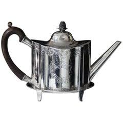 Newcastle Georgian Bright Cut Teapot and Stand