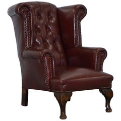 Rare Vintage Handmade in England Children's Chesterfield Wingback Armchair Small
