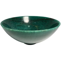 Beautiful Semi Precious Aventurine Jade Bowl Hand-Carved in India