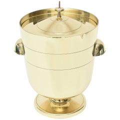 Midcentury Modern Tommi Parzinger Brass Ice/ Champagne Bucket / Barware
