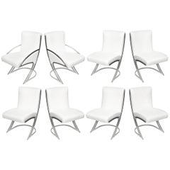 Set of Six Pierre Cardin Vintage Sculptural Dining Chairs