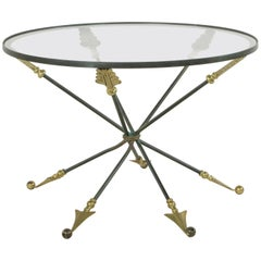 Mid-20th Century French Directoire Style Bronze and Glass Coffee Table