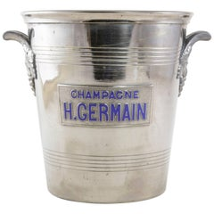 Mid-20th Century French Silver Plate Champagne Bucket Marked H. Germain