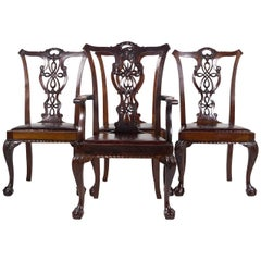 Set of Four Chippendale Revival Chairs
