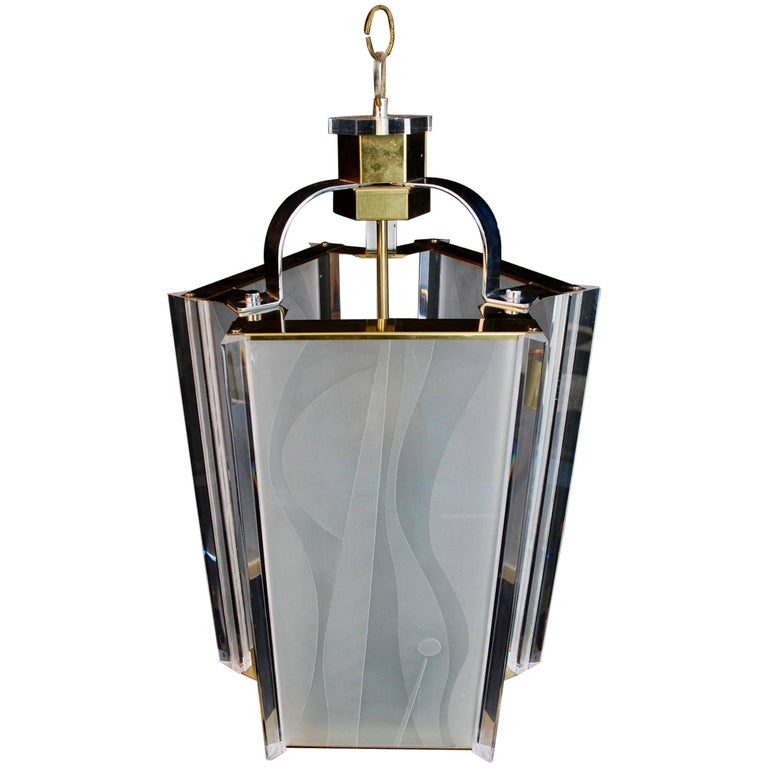 Sexy Modern Light Design and Signed by Fredrick Ramond with an Art Deco Feeling