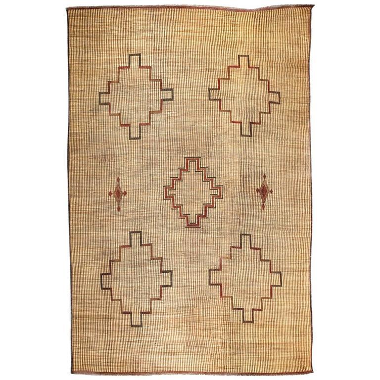 Moroccan Tribal Leather Rug