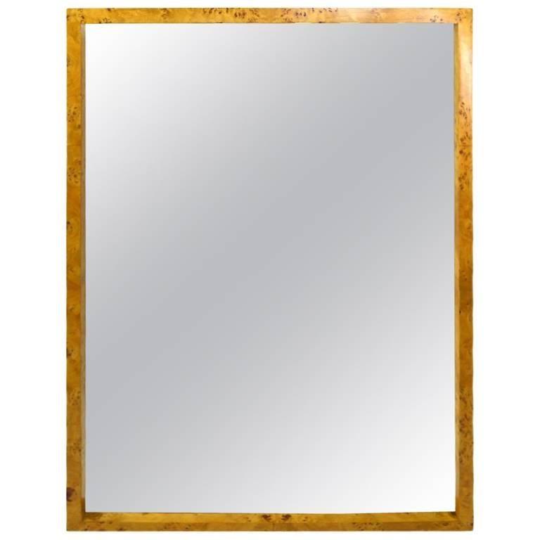 Elegant Burl Frame Mirror by Pace