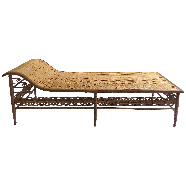 Elegant Victorian Heywood Wakefield Chaise Lounge