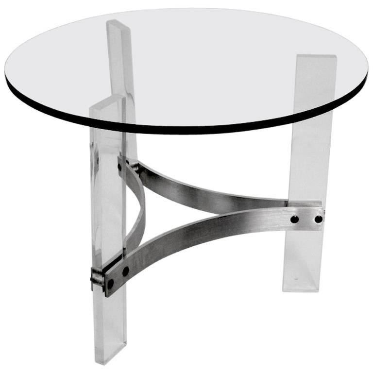 Charles Hollis Jones Table with Lucite Base
