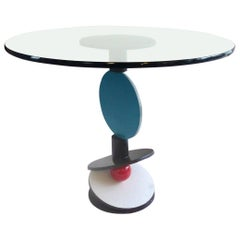 Sculptural Raymond Karpuska Memphis Style Table