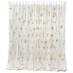 Draped Flowers, Paper Thread Curtain to Hold Fresh Flowers by UMÉ Studio