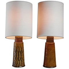 Pair of Kähler Ceramic Table Lamps, Denmark, 1960s