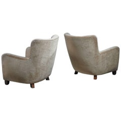 Pair of Danish Club Chairs, 1940s
