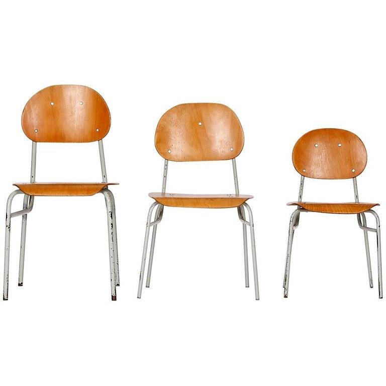 Children's Chairs, 1960s, Set of Three