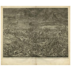 Antique Bible Print Gideon Defeats the Midianites by J. Luyken, 1743