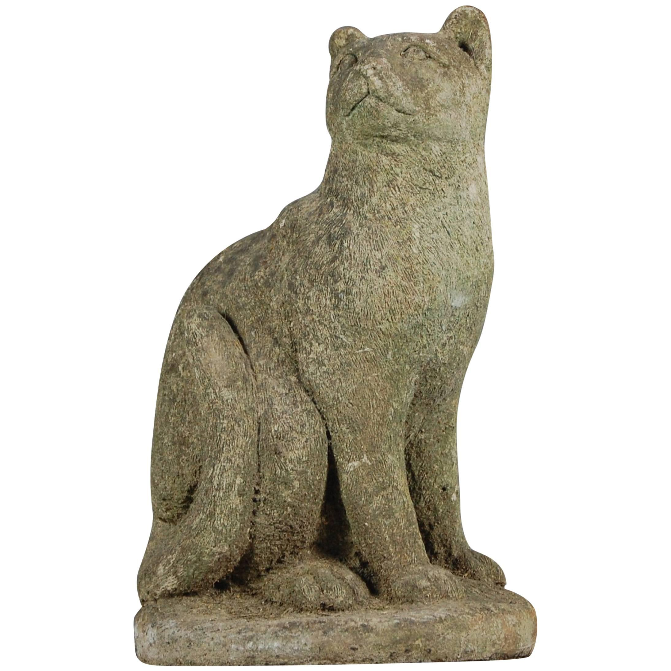 20th Century Weather Pussy Cat Garden Statue For Sale