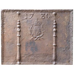 18th Century French 'Pillars with Arms of France' Fireback