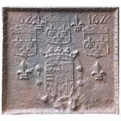 17th Century French 'Arms of France' Fireback