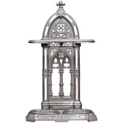 Large Gothic Revival Cast Iron Stick or Umbrella Stand