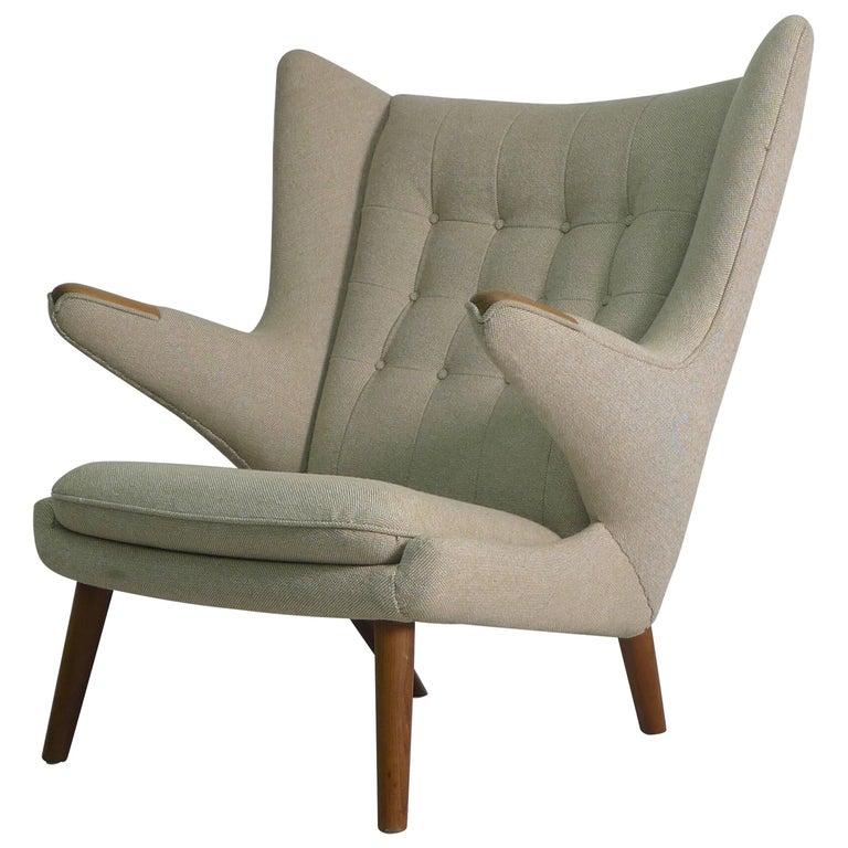 Hans Wegner Papa Bear Chair, 1951, Stamped by Maker AP Stolen, Denmark For Sale
