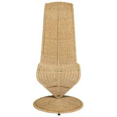 Marzio Cecchi Woven 'S' Chair, 1970s, Italy