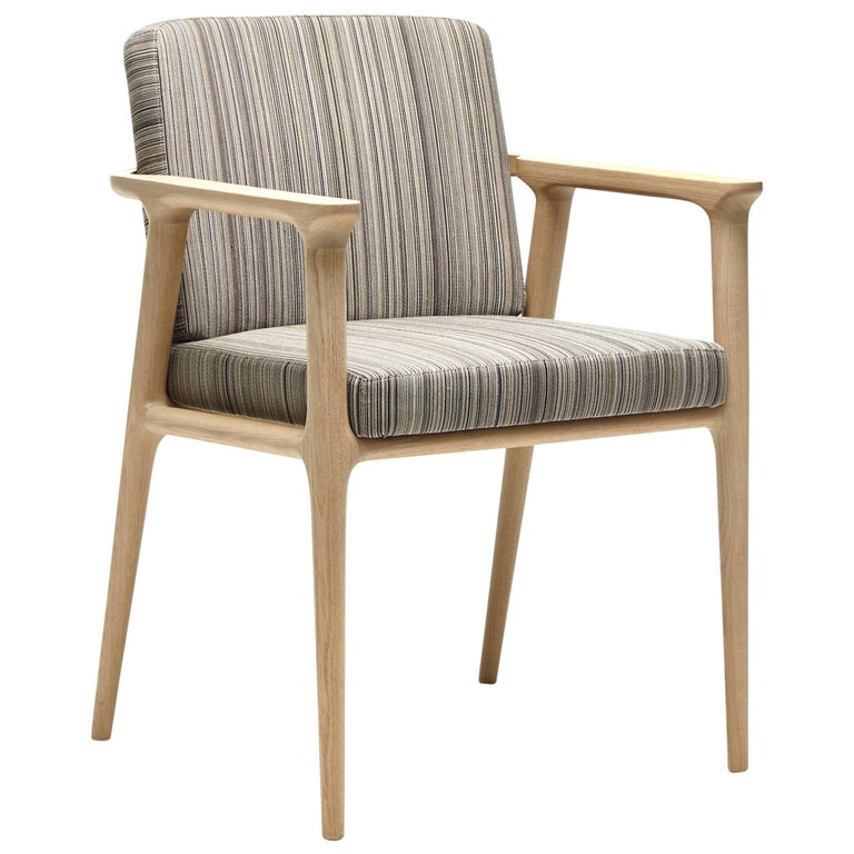 Moooi Zio Dining Chair in Stained Solid Oak and Fabric or Leather